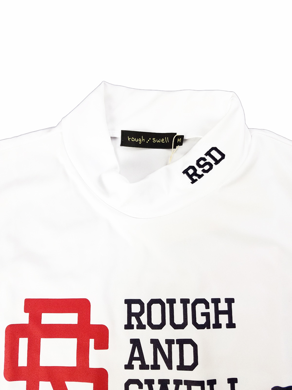 rough&swell ラフアンドスウェル BIG RS MOCK モックネック ホワイト RSM-21050 / ゴルフウェア メンズ ラフ&スウェル