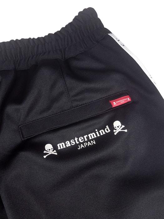 mastermind JAPAN マスターマインドジャパン ポリエステルジャージ 2WAYシリコンプリント+JQテープ ブラック(ホワイトテープ) MJ19E03-PA033-602