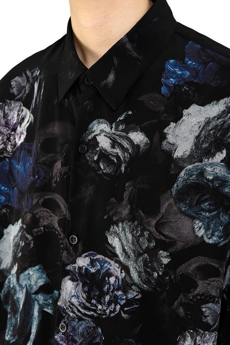 LAD MUSICIAN ラッドミュージシャン BIG SHIRT ビッグシャツ ブルー 2220-143