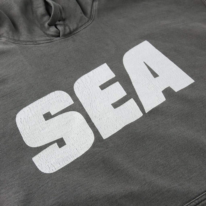 WIND AND SEA ウィンダンシー SEA (sea-alive) HOODIE パーカー チャコール WDS-21S-TPS-03