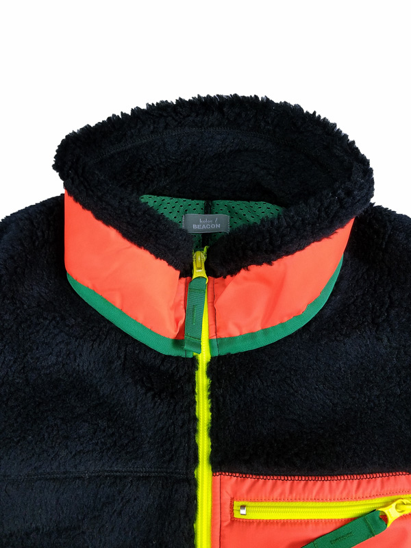 kolor BEACON カラービーコン ボアスウェット ネイビー 21WBM-T01231
