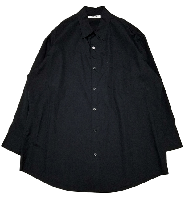 sulvam サルバム オーバーシャツ ブラック over SH SJ-B03-001