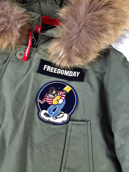 FREEDOMDAY フリーダムデイ ファー ダウンジャケット アーミー NEW CAMPIGLIO 920241114017 / ダウン