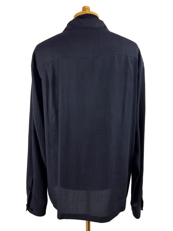 UNDERCOVER アンダーカバー Ten開襟シャツ Cindyprint #56 テンセルシャツ ブラック UCY4403-1
