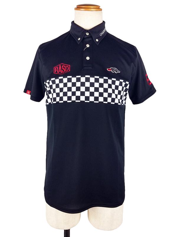 rough&swell ラフアンドスウェル GT2 TOUR ポロシャツ ブラック×ブラック RSM-20004 / ゴルフウェア メンズ ラフ&スウェル