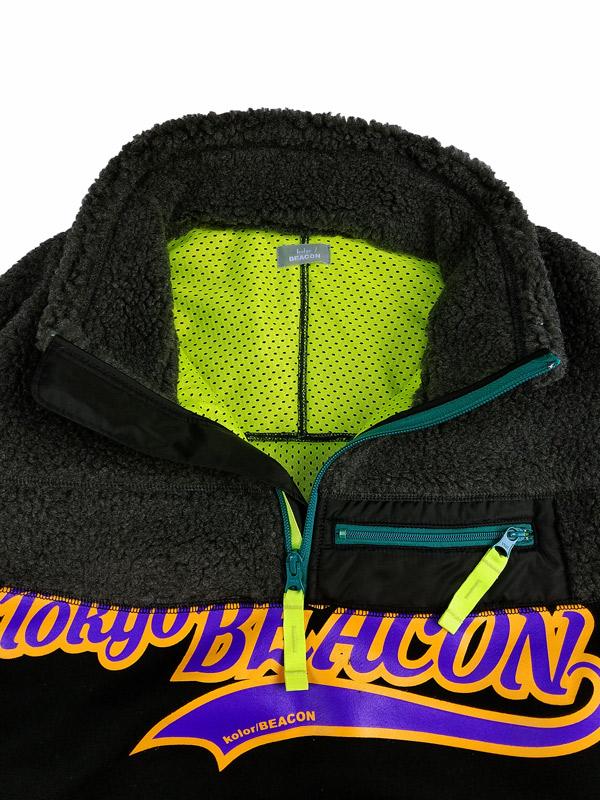 kolor BEACON カラービーコン ボアスウェット チャコール 21WBM-T01231