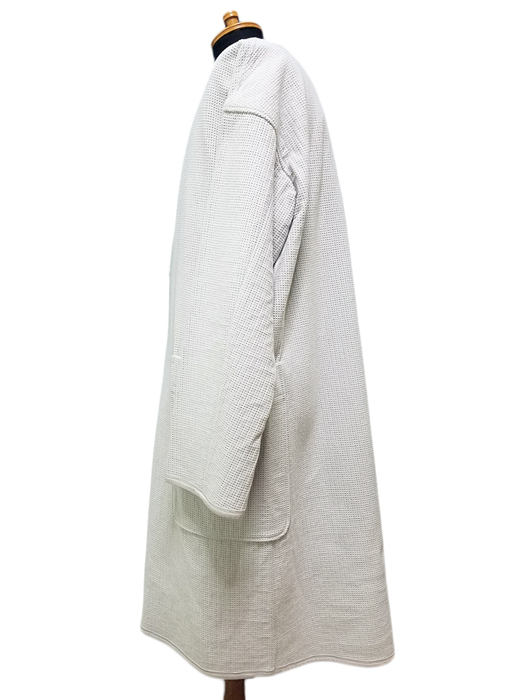 THE RERACS ザ・リラクス ロングカーディガン ホワイト 15FW-RECS-073L