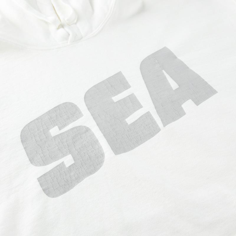 WIND AND SEA ウィンダンシー SEA (sea-alive) HOODIE パーカー ホワイト WDS-21S-TPS-03