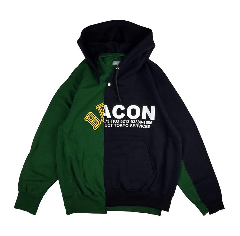 kolor BEACON カラービーコン 起毛裏毛切替パーカー ネイビー 21WBM-T06234