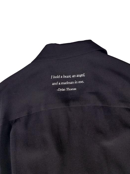 UNDERCOVER アンダーカバー Ry開襟シャツ I hold a beast em ブラック UCY4403-2 /レーヨンシャツ