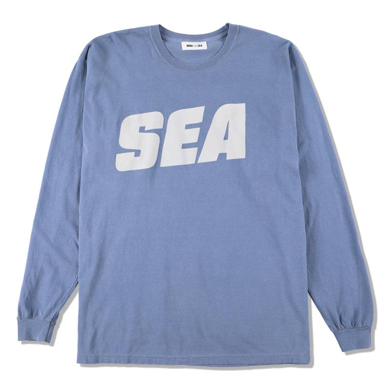 WIND AND SEA ウィンダンシー SEA (sea-alive) L/S T-SHIRT ロングTシャツ ブルー WDS-21S-TPS-04