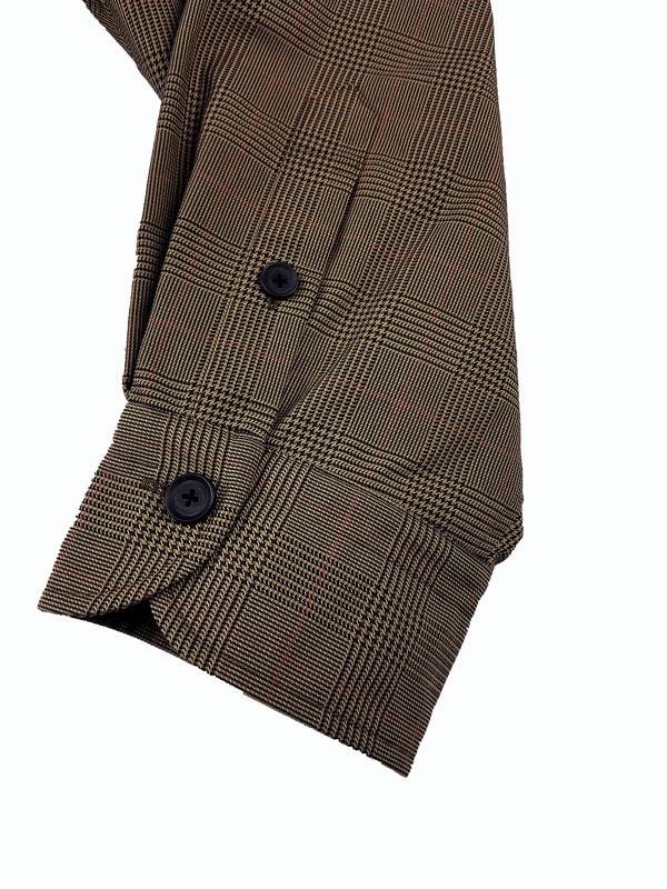 kolor BEACON カラービーコン ナイロンメモリーチェックジャケット ベージュ 21WBM-B01137
