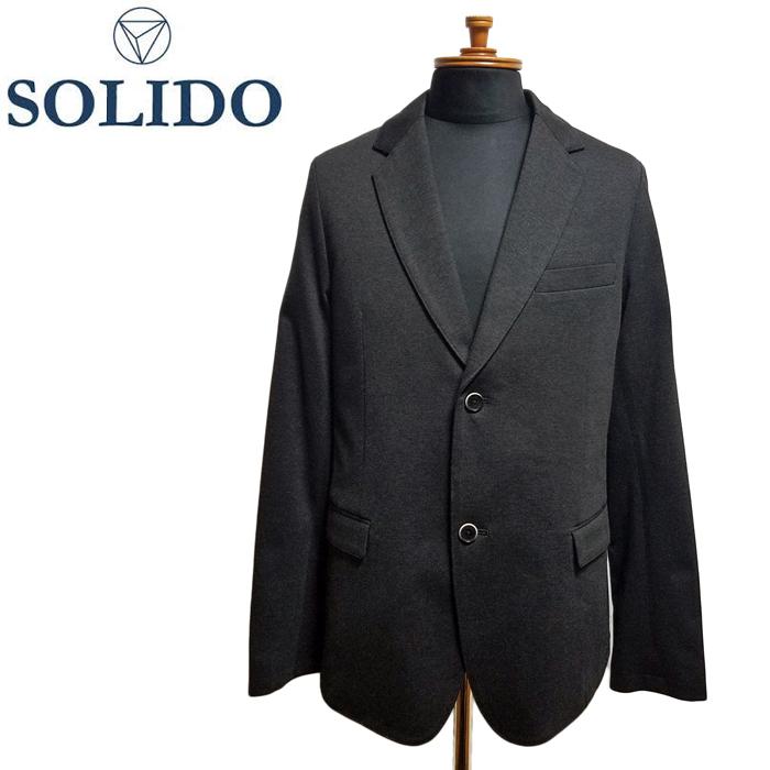 SOLIDO ソリード 度詰め天竺ジャケット チャコールグレー MSL18S435