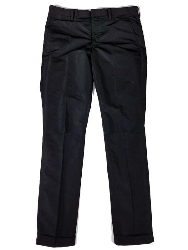 UNDERCOVER アンダーカバー メモリーウェザーヒザアキ裾Wスラックス ブラック UCY4507-3 / パンツ
