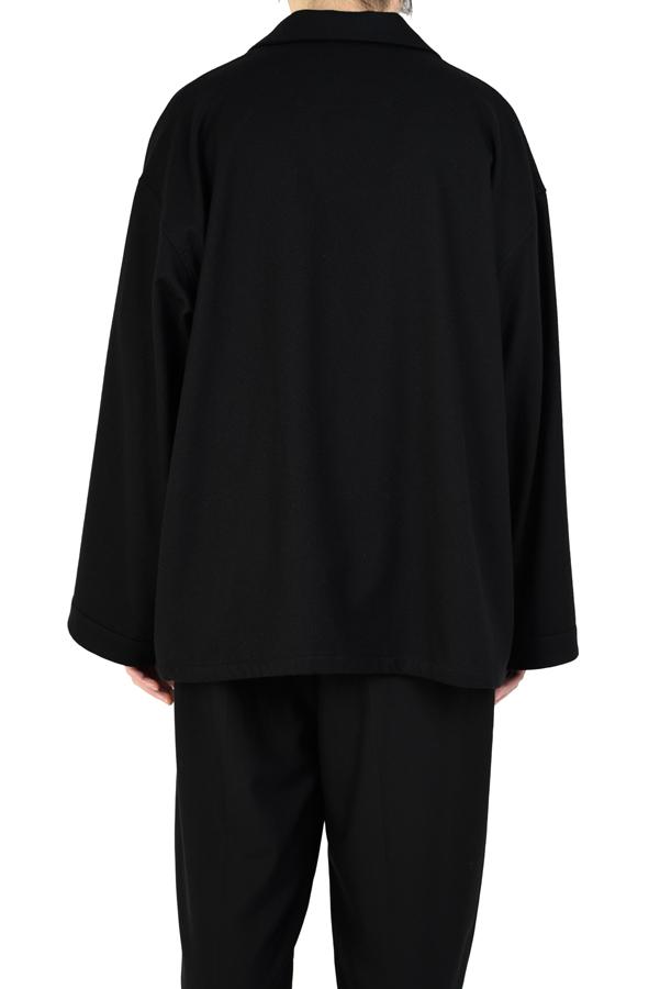 LAD MUSICIAN ラッドミュージシャン BIG PAJAMA SHIRT ビッグパジャマシャツ ブラック 2220-102