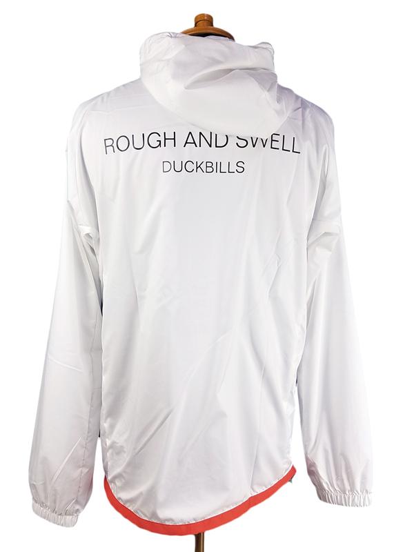 rough&swell ラフアンドスウェル ウインドブレーカー ホワイト SCOTLAND HOODIE RSM-19233 / ラフ&スウェル ゴルフウェア メンズ