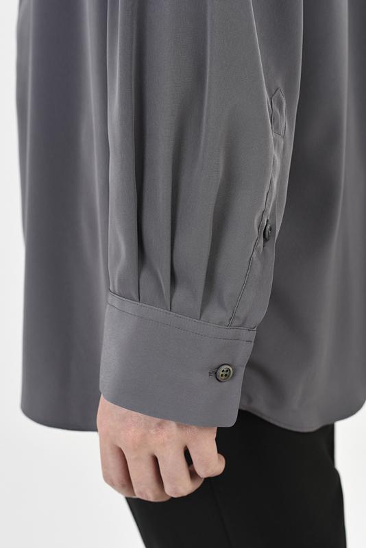 LAD MUSICIAN ラッドミュージシャン BIG SHIRT ビッグシャツ ライトグレーパープル 2121-103