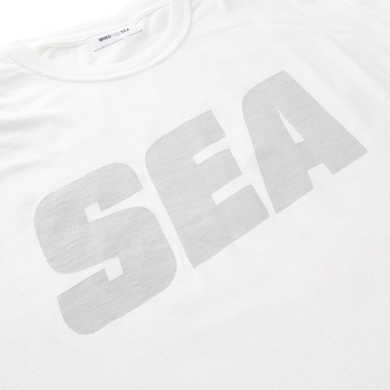 WIND AND SEA ウィンダンシー SEA (sea-alive) L/S T-SHIRT ロングTシャツ ホワイト WDS-21S-TPS-04
