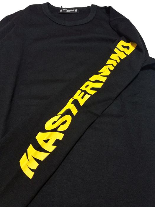 mastermind JAPAN マスターマインドジャパン 長袖Tシャツ 天竺 レギュラーフィット プリント ブラック MJ18E02-TS094-016 / ロンT