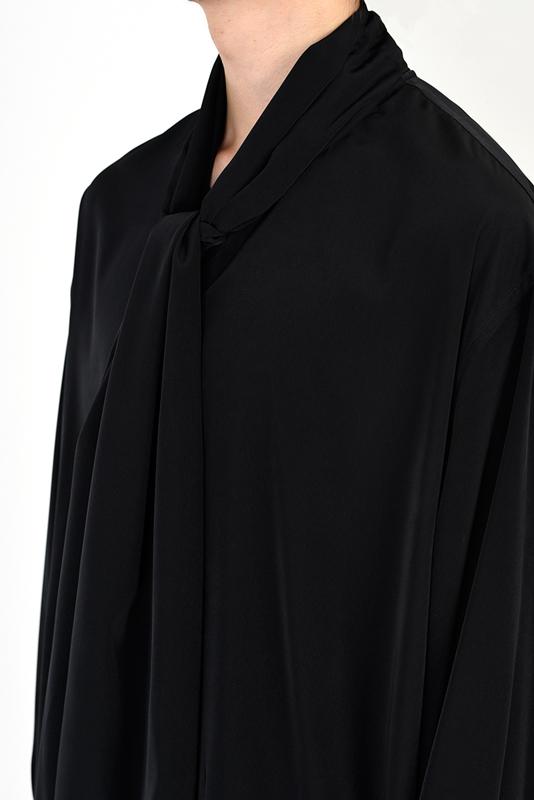 LAD MUSICIAN ラッドミュージシャン BOW COLLAR SHIRT ボウカラーシャツ ブラック 2121-108