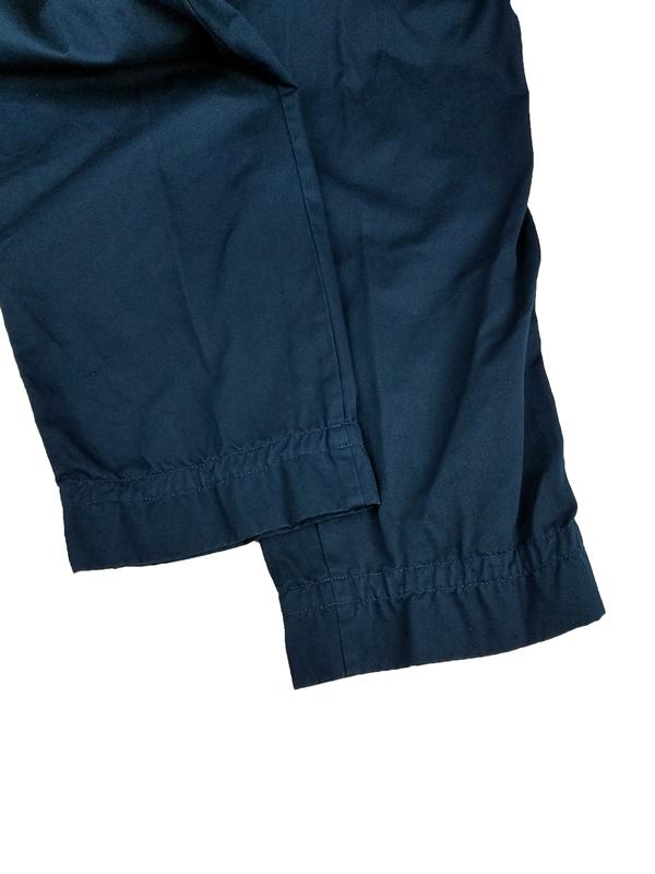 kolor BEACON カラービーコン 製品染めチノクロスパンツ ディープブルー 21WBM-P01138