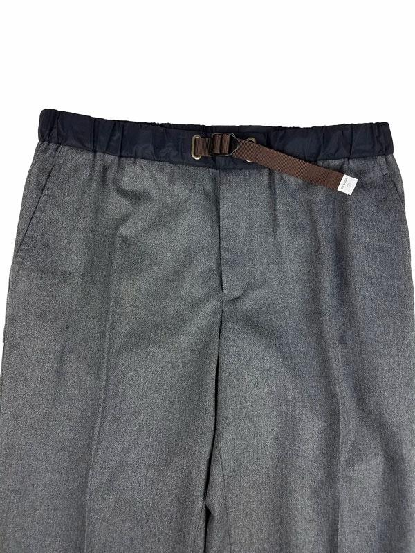 kolor BEACON カラービーコン フランネルウールパンツ グレー 21WBM-P02139