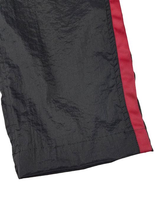 White Mountaineering ホワイトマウンテニアリング STRETCHED TAPERED PANTS ストレッチテーパードパンツ ブラック×バーガンディ WM2071416 / パンツ