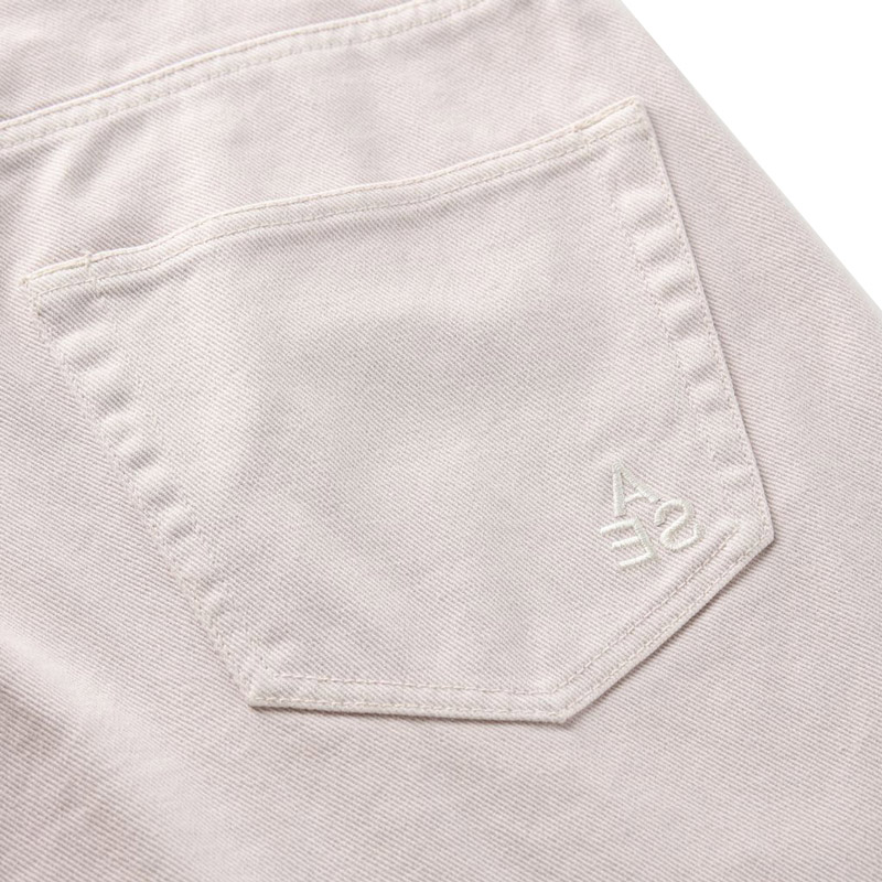WIND AND SEA ウィンダンシー WDS A32(INVERT) Mid Rise Wide Tapered Jeans テーパードデニムパンツ アイボリー WDS-21S-PT-04