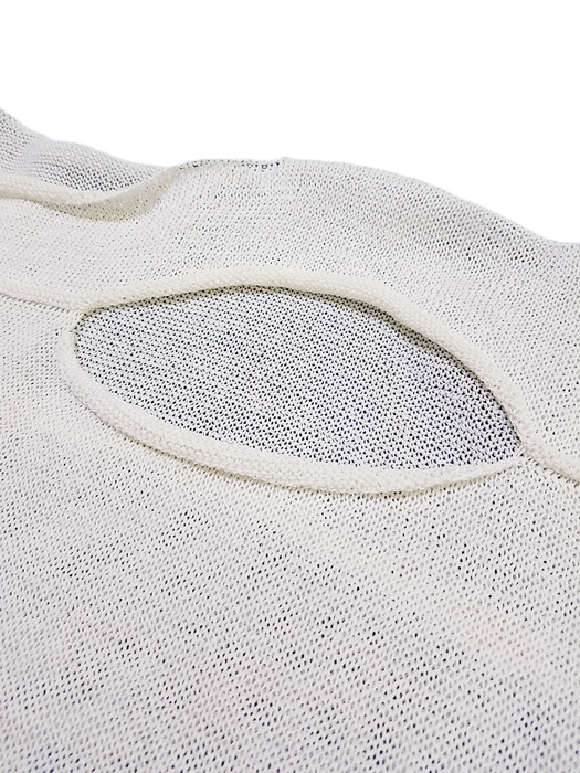 sulvam サルバム ショートフットボールニット ホワイト short football knit SJ-K05-830