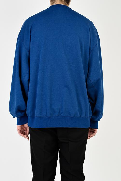 LAD MUSICIAN ラッドミュージシャン CREW NECK PULLOVER クルーネック プルオーバースウェット ブルー 2121-608
