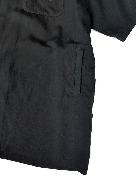 UNDERCOVER アンダーカバー Ten開襟半袖シャツ Cindyprint #21 ブラック UCY4408-1 / テンセル