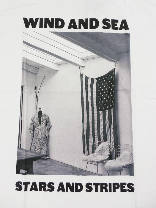 WIND AND SEA ウィンダンシー WDS (STARS AND STRIPES) PHOTO T-SHIRT Tシャツ ホワイト WDS-20A-CS-05