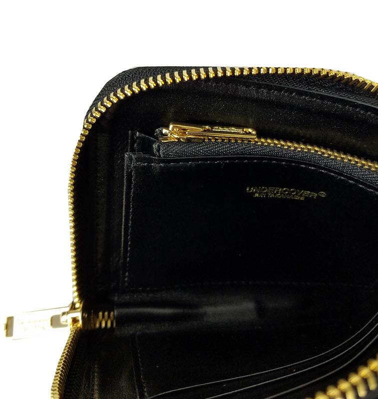 UNDERCOVER アンダーカバー 総柄型押L字ZIPポーチ財布 GILAPPLE ブラック UC2A4C01-3