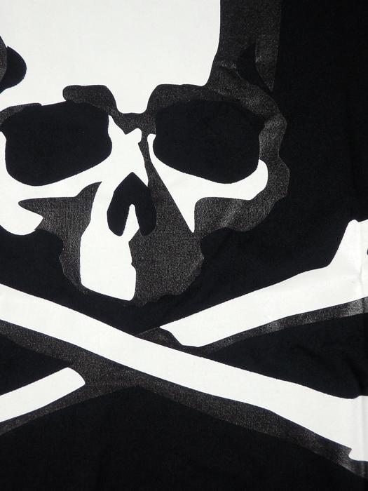 mastermind JAPAN マスターマインドジャパン Tシャツ 天竺 レギュラーフィット プリント ブラック×ブラック MJ19E03-TS095-012