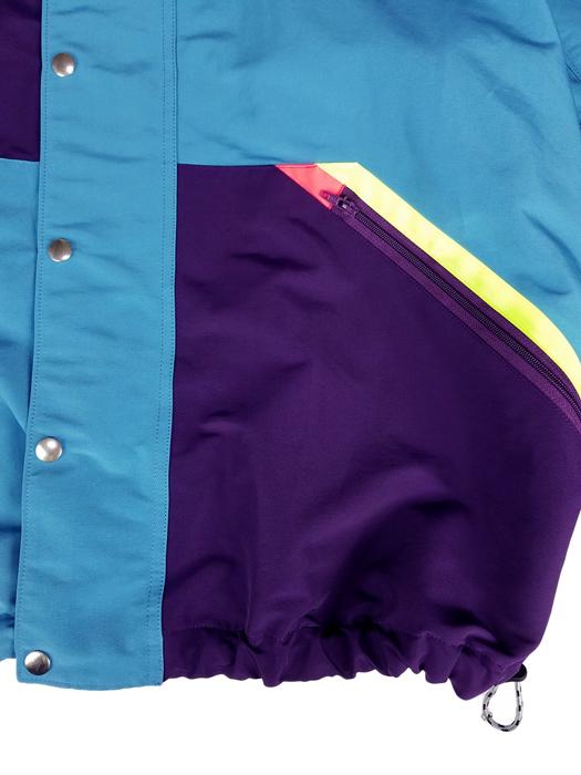 kolor BEACON カラービーコン パターン切替ブルゾン ターコイズ 20WBM-G05141 /マウンテンパーカー