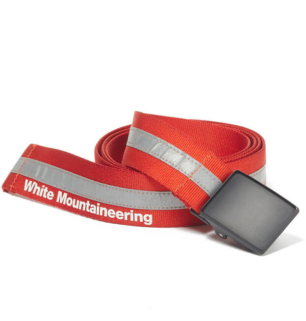 White Mountaineering ホワイトマウンテニアリング ベルト オレンジ REFLECTIVE TAPED BELT WM1971818