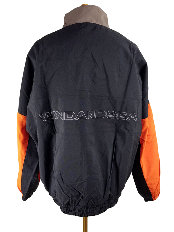 WIND AND SEA ウィンダンシー WDSトラックジャケット グレー/オレンジ WDS TRUCK JACKET WDS-19A-JK-03