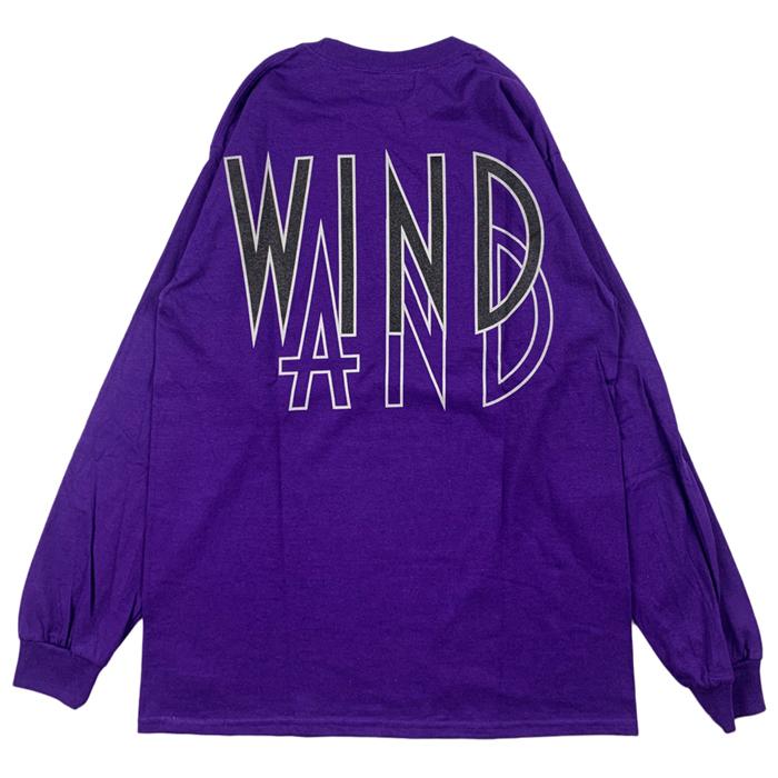 WIND AND SEA ウィンダンシー SEA (wavy) L/S T-SHIRT ロングスリーブTシャツ パープル WDS-20A-TPS-06