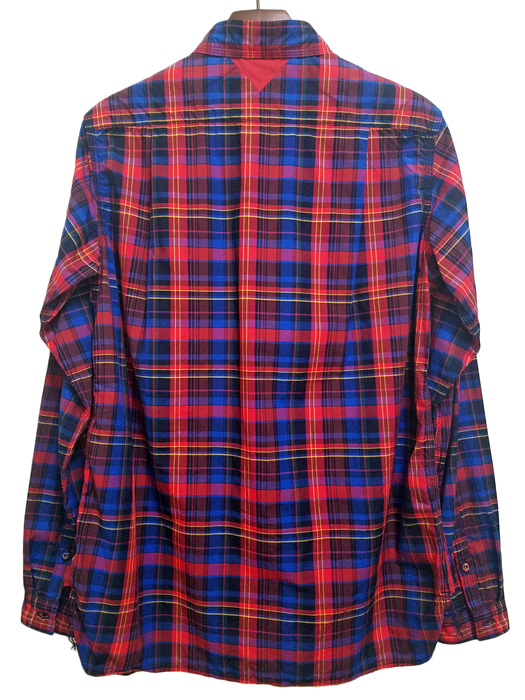 White Mountaineering ホワイトマウンテニアリング マドラスチェックシャツ ネイビー MADRAS CHECK SHIRT  WM1971104