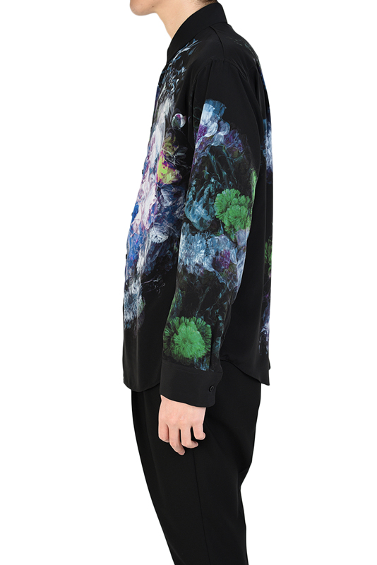 LAD MUSICIAN ラッドミュージシャン DECHINE FLOWER STANDARD SHIRT スタンダード 花柄シャツ パープル 2120-115 / フラワー
