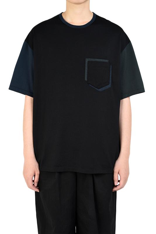LAD MUSICIAN ラッドミュージシャン POCKET T-SHIRT ポケットTシャツ ブラック 2320-712