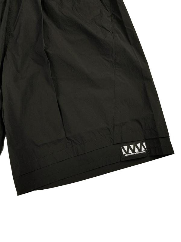 White Mountaineering Repose Wear ホワイトマウンテニアリング LAYERED EASY HALF PANTS ショートパンツ ブラック RW2171404