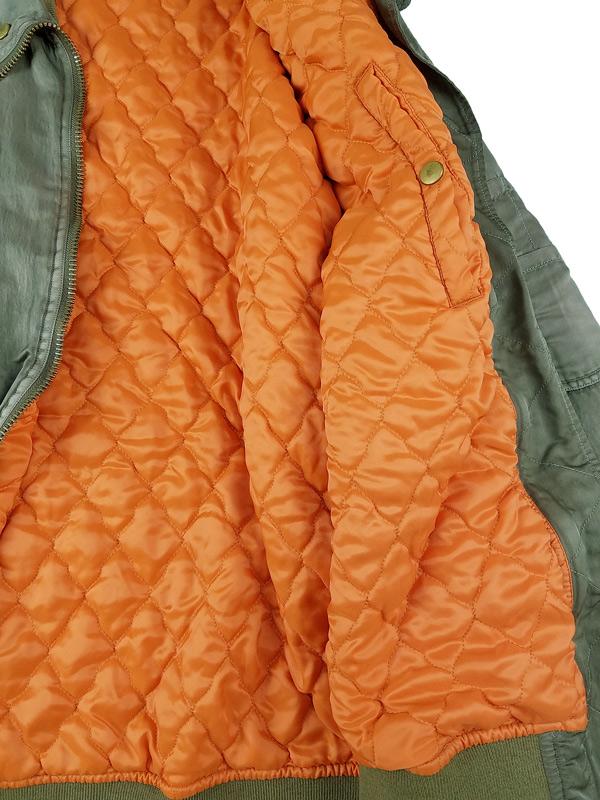 kolor BEACON カラービーコン 製品染めナイロンツイルブルゾン カーキ 21WBM-G05141