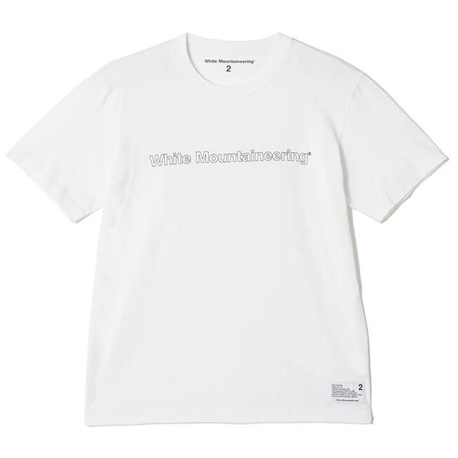White Mountaineering ホワイトマウンテニアリング プリントTシャツ ホワイト PRINTED T-SHIRT 'WHITE MOUNTAINEERING'  WM1971501