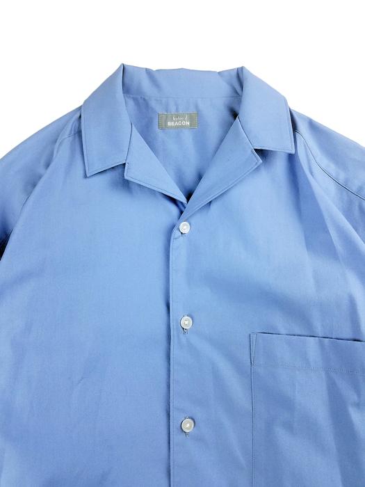 kolor BEACON カラービーコン 40S ブロードシャツ サックスブルー 21SBM-B05143