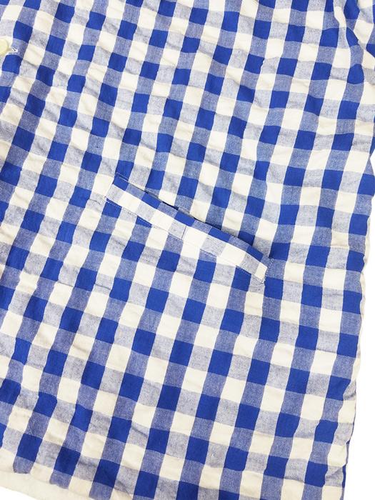 NAISSANCE ネサーンス GINGHAM PILE REVERSIBLE SHIRT ギンガム パイル リバーシブルシャツ ブルー 20S-NSA-SH-05