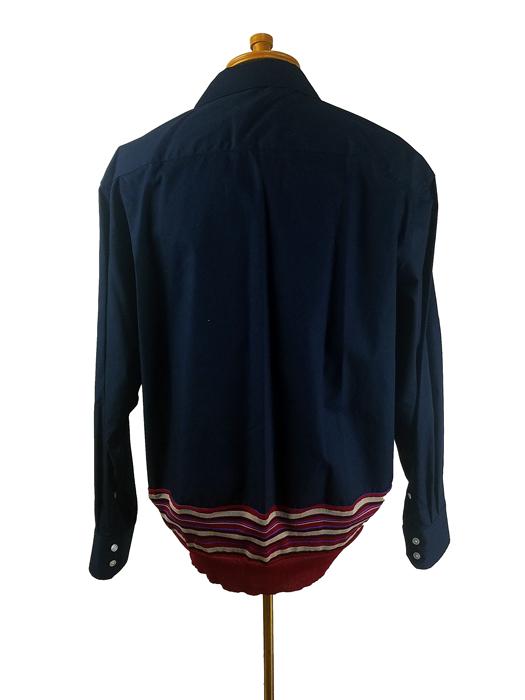 kolor BEACON カラービーコン 40S ブロードシャツ ネイビー 21SBM-B05143