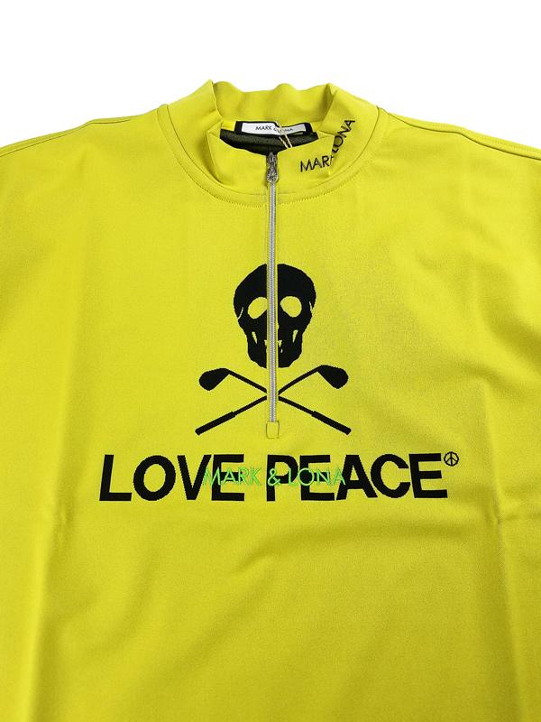 【木村拓哉さん着用モデル】MARK&LONA マークアンドロナ Closure Mock neck Shirts   MEN モックネックシャツ イエロー MLM-1A-AA01