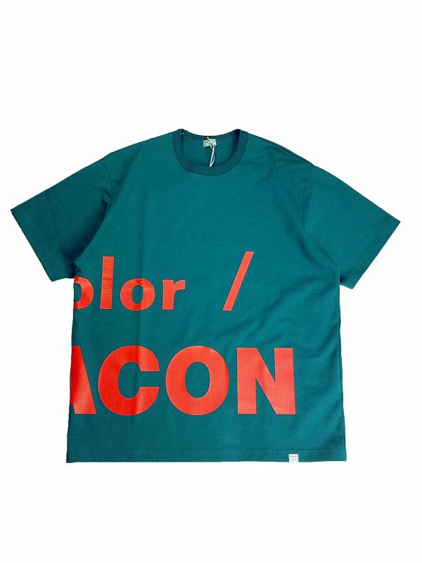 kolor BEACON カラービーコン 度詰め天竺 Tシャツ ピーコックグリーン 21SBM-T02231