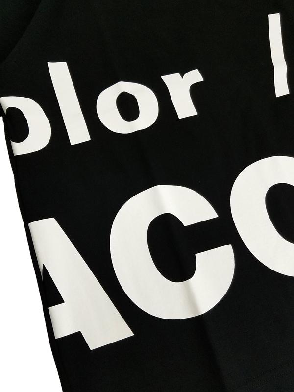 kolor BEACON カラービーコン 度詰め天竺 Tシャツ ブラック 21SBM-T02231